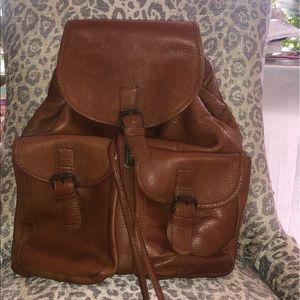 vintage Clava American leather backpack
